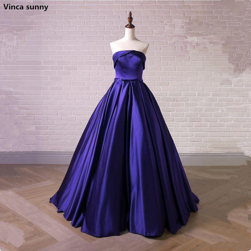2018 Nueva Largo azul Vestidos de Baile Robe de Soirée Sexy ...