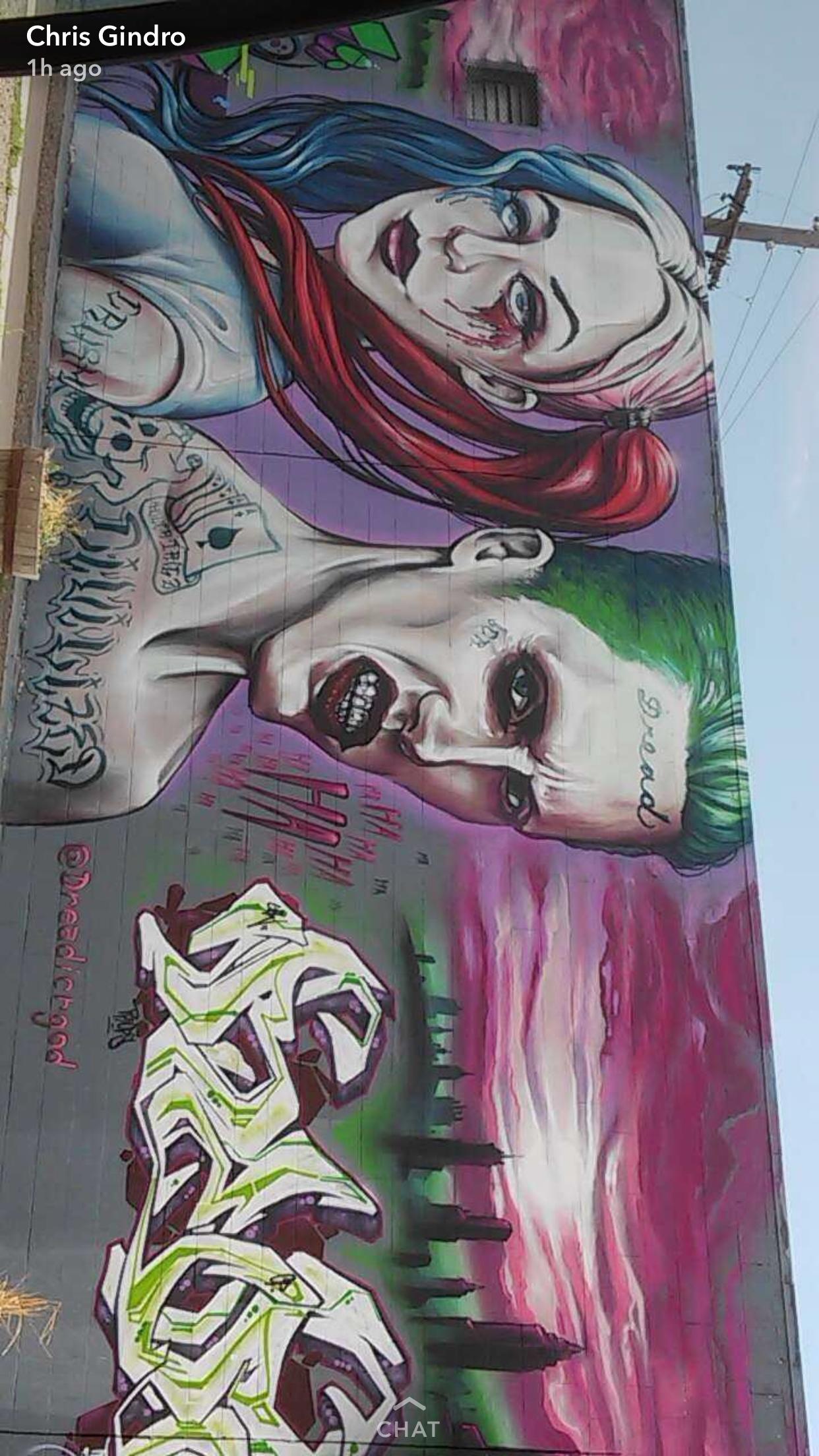 Suicide Squad Street Art Joker Graffiti Street Art Pinterest