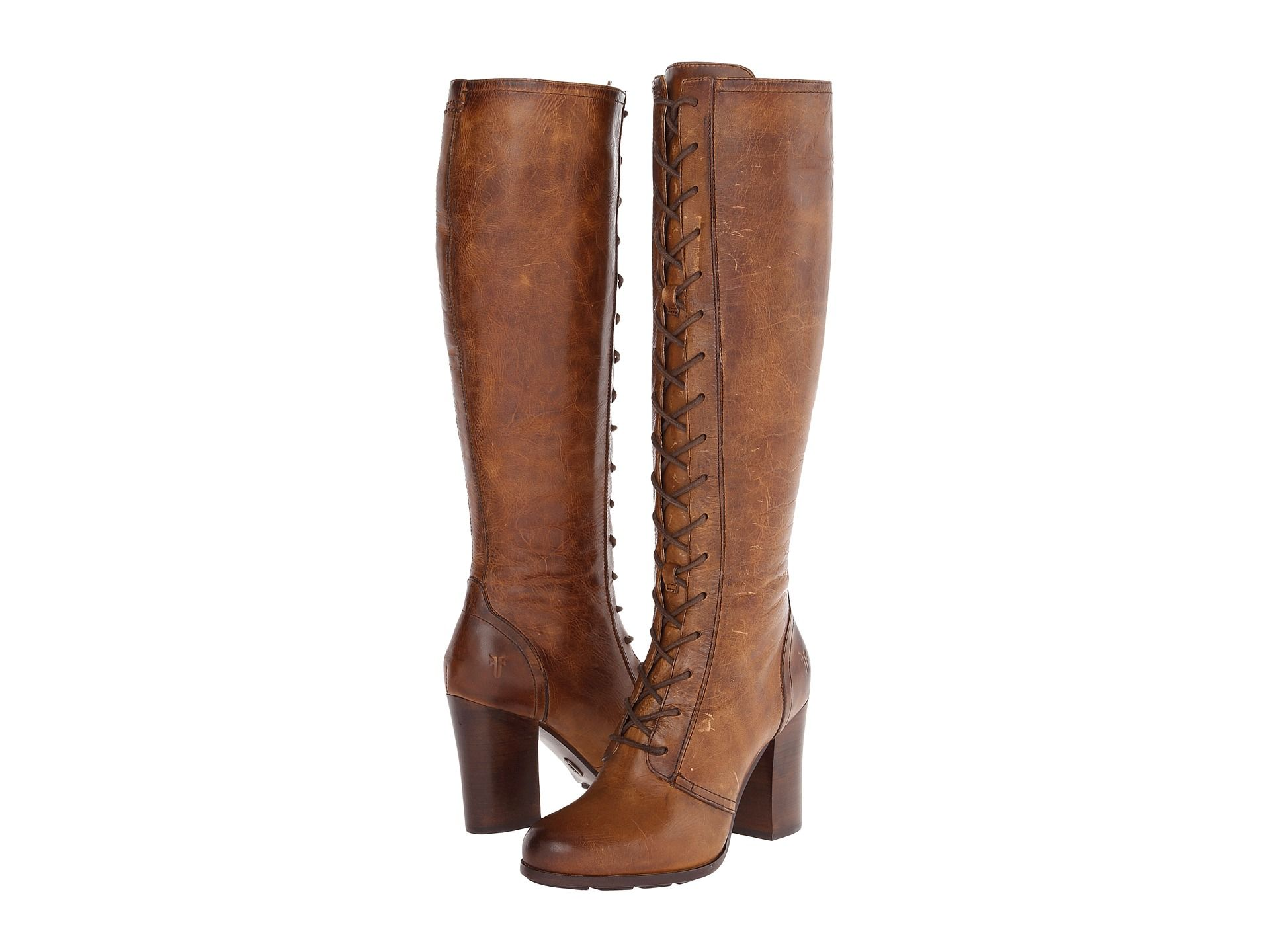 Frye Parker Tall Dark Brown Antique Pull Up Women