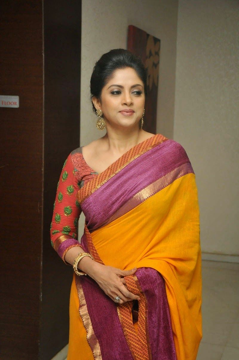 8e03e157e89efd Nadhiya Latest Spicy Stills In Colorful Yellow Saree | Saree | Saree ...