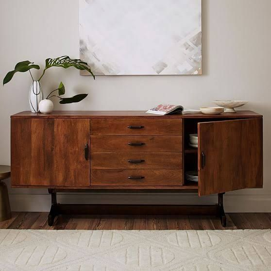 Mid Century Credenza Modern Furniture Living Room Mid Century