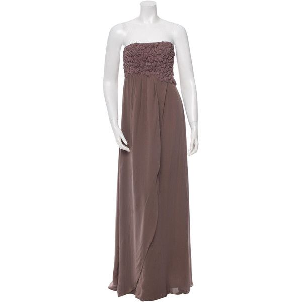 Pre-owned Tibi Strapless Silk Gown (165 CAD) ❤ liked on Polyvore ...