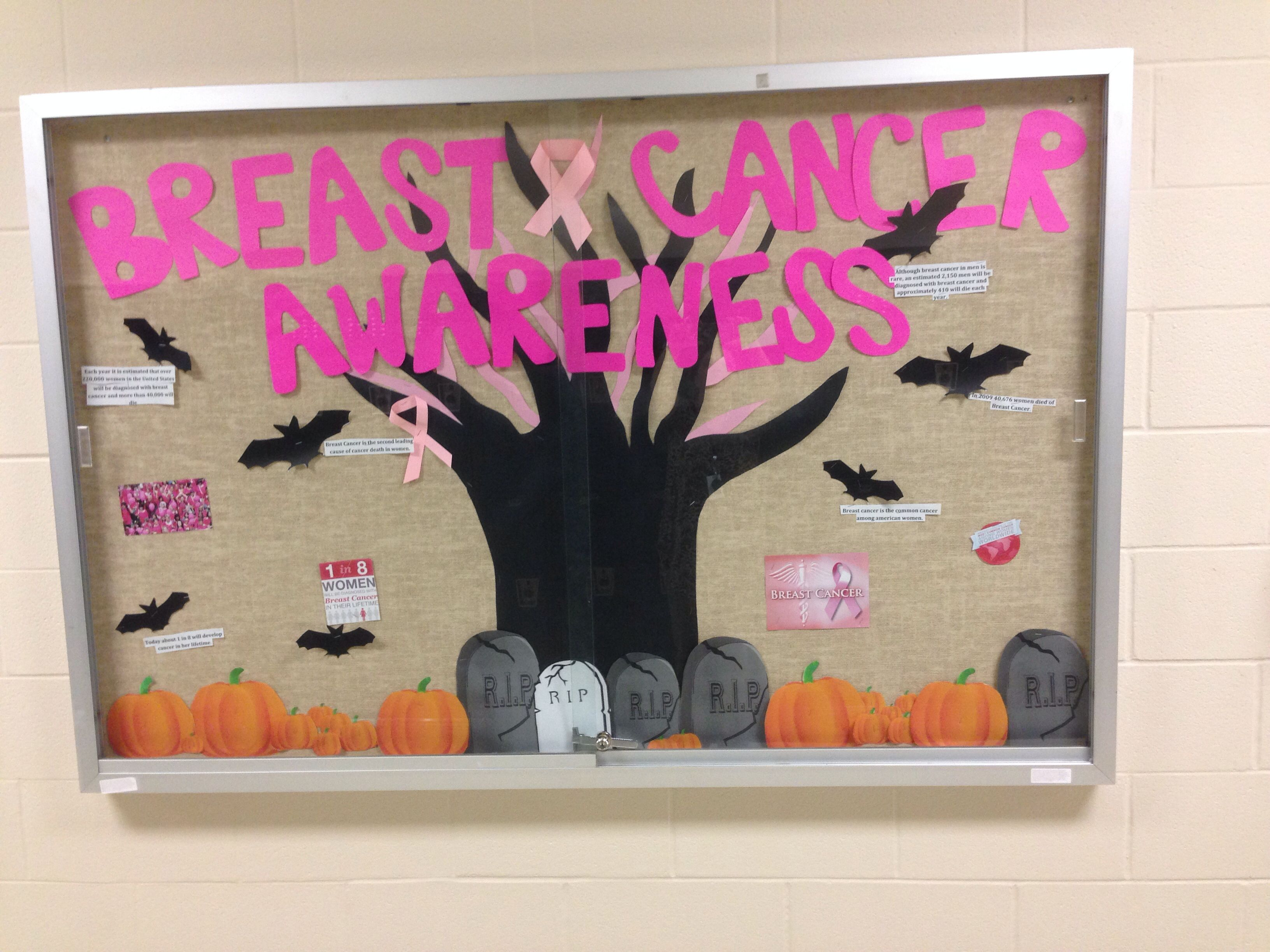 HOSA   Health Science Technology Bulletin Board For October Breast Cancer  Awareness Month! Part 88