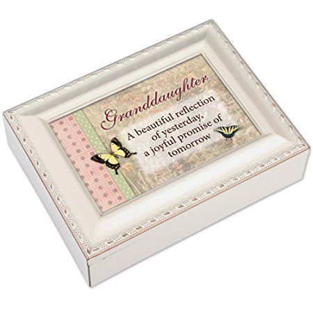 Granddaughter Jewelry Box Delectable Cottage Garden Granddaughter Ivory Music Boxjewelry Box Plays You