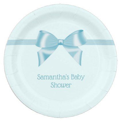 Aqua Blue Baby Shower Paper plates - baby gifts child new born gift idea diy cyo  sc 1 st  Pinterest & Aqua Blue Baby Shower Paper plates - baby gifts child new born gift ...