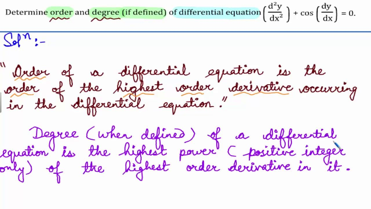 Ncert Class 12 Math Solutions Differential Equations Exercise 9 1 Maths Solutions Class 12 Maths Math
