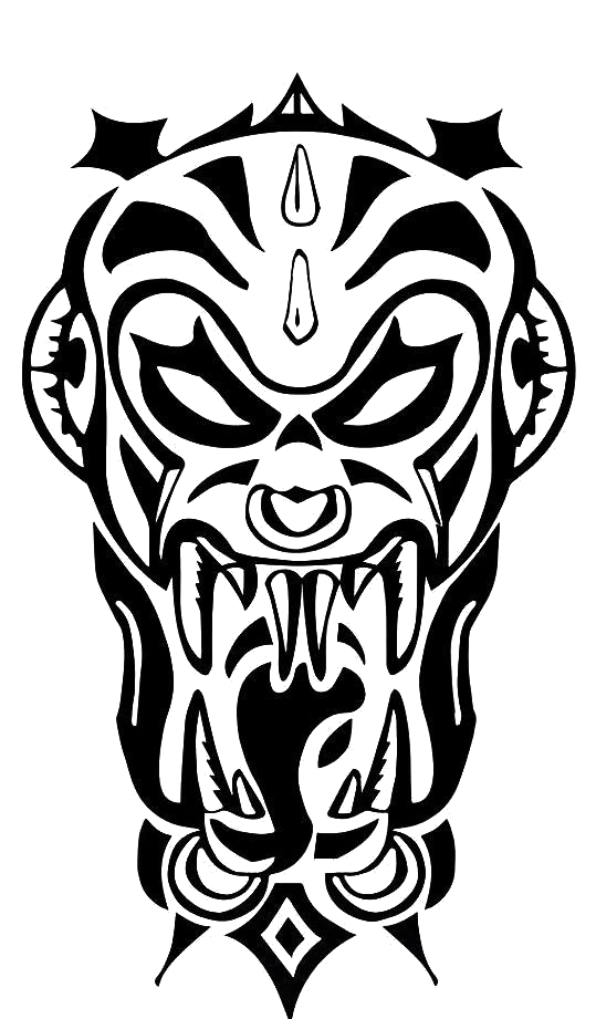 Mom Tattoo Png: Tribal Demond Large Vampire Black Zombie Temporary Tattoo