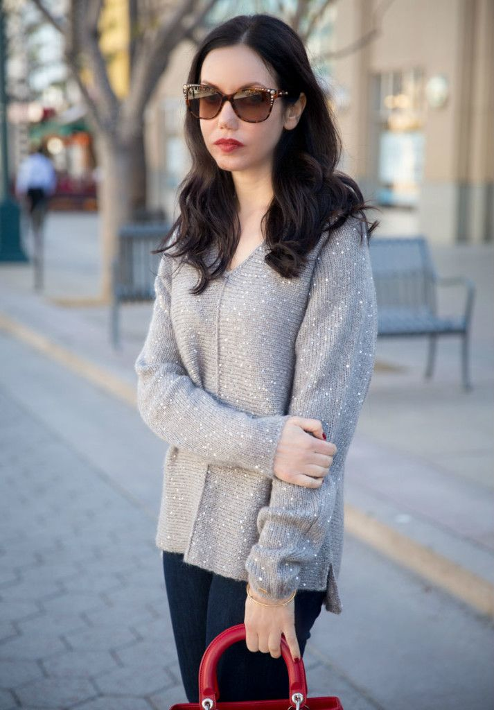Tommy Hilfiger Sweater, Versace Cat Eye Sunglasses, Los Angeles Fashion Blogger
