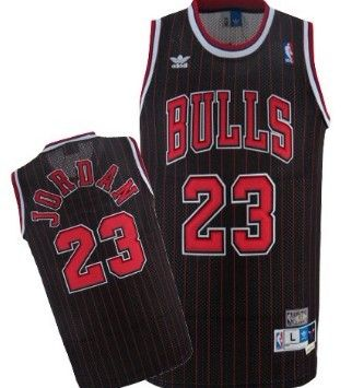 best authentic 5ca10 7aa52 Michael Jordan Black Pinstripe Throwback Swingman Jersey ...