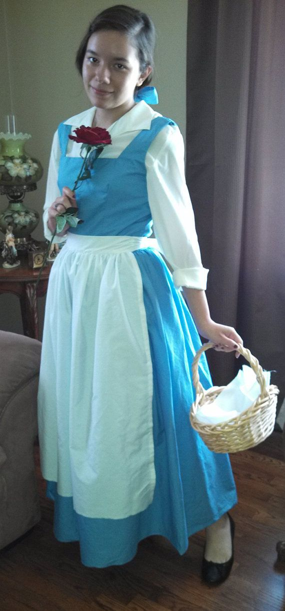 Beauty and the Beast Belle Peasant Dress Adult Costume ...