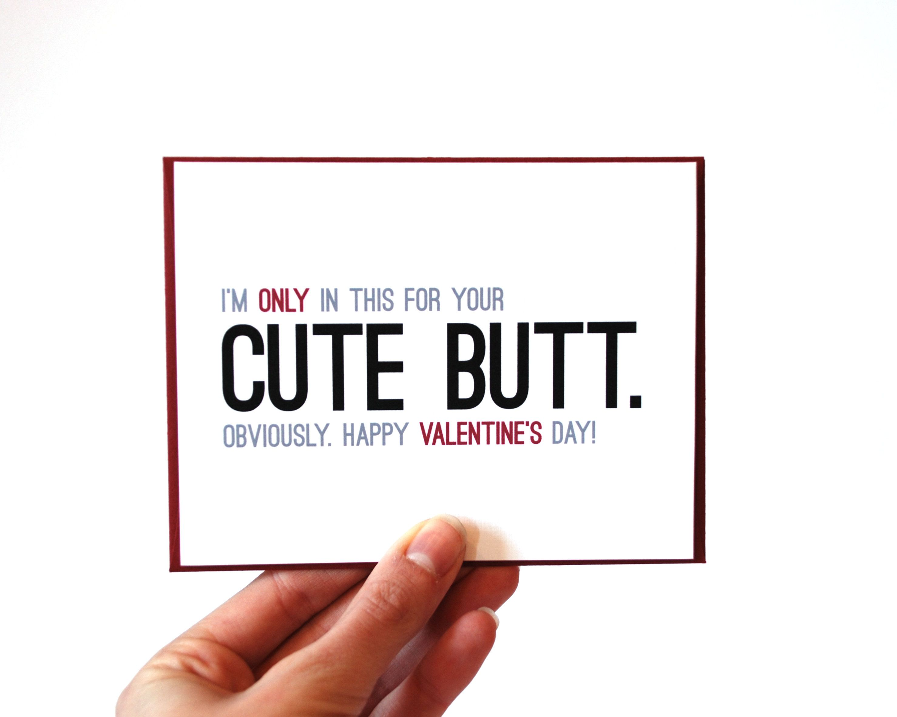 Funny Valentines Card Happy Valentines Day Card Cute Butt – Silly Valentines Day Cards