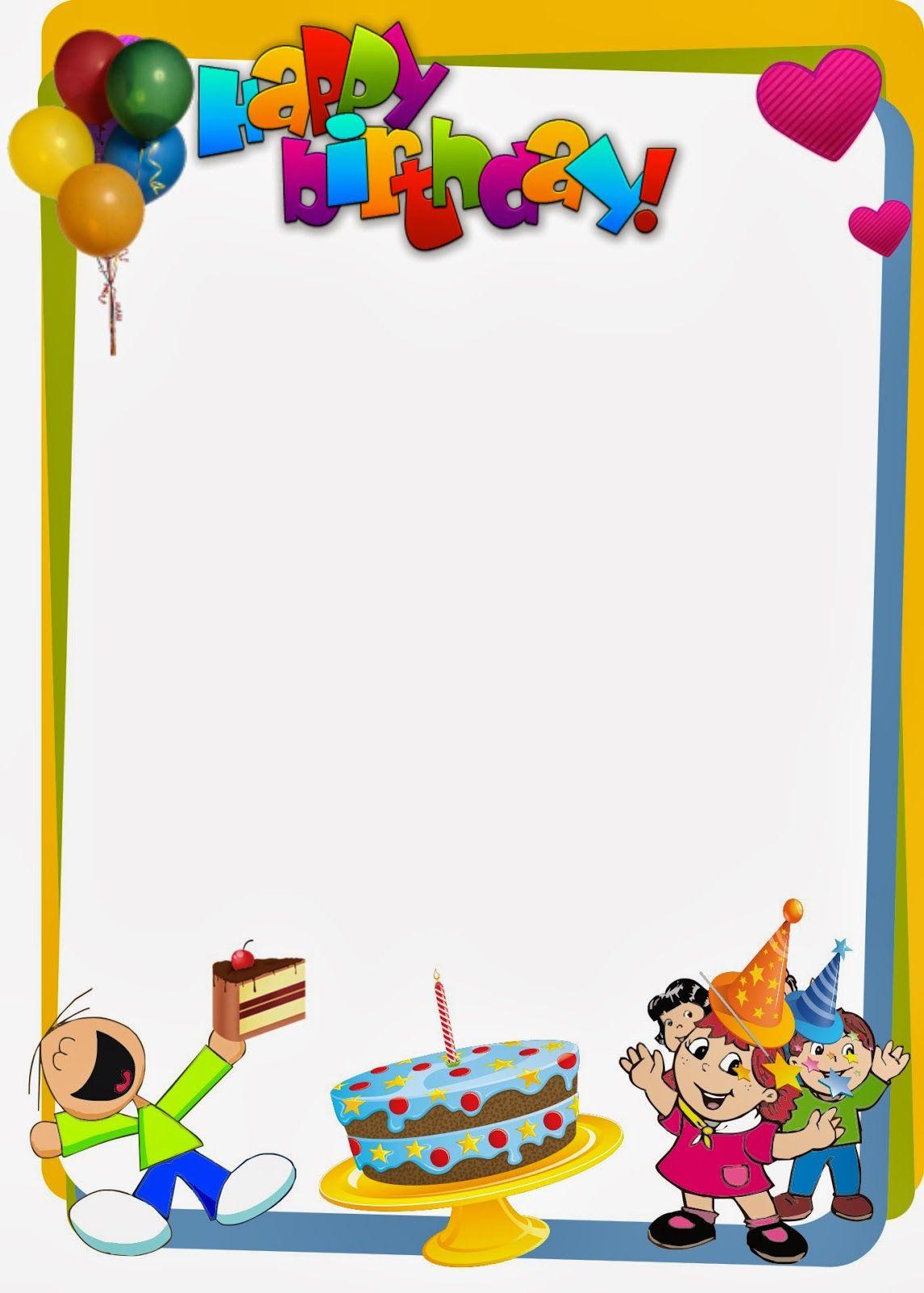 PARA IMPRIMIR Bordes para imprimir de cumpleaños BORDES Pinterest Searching