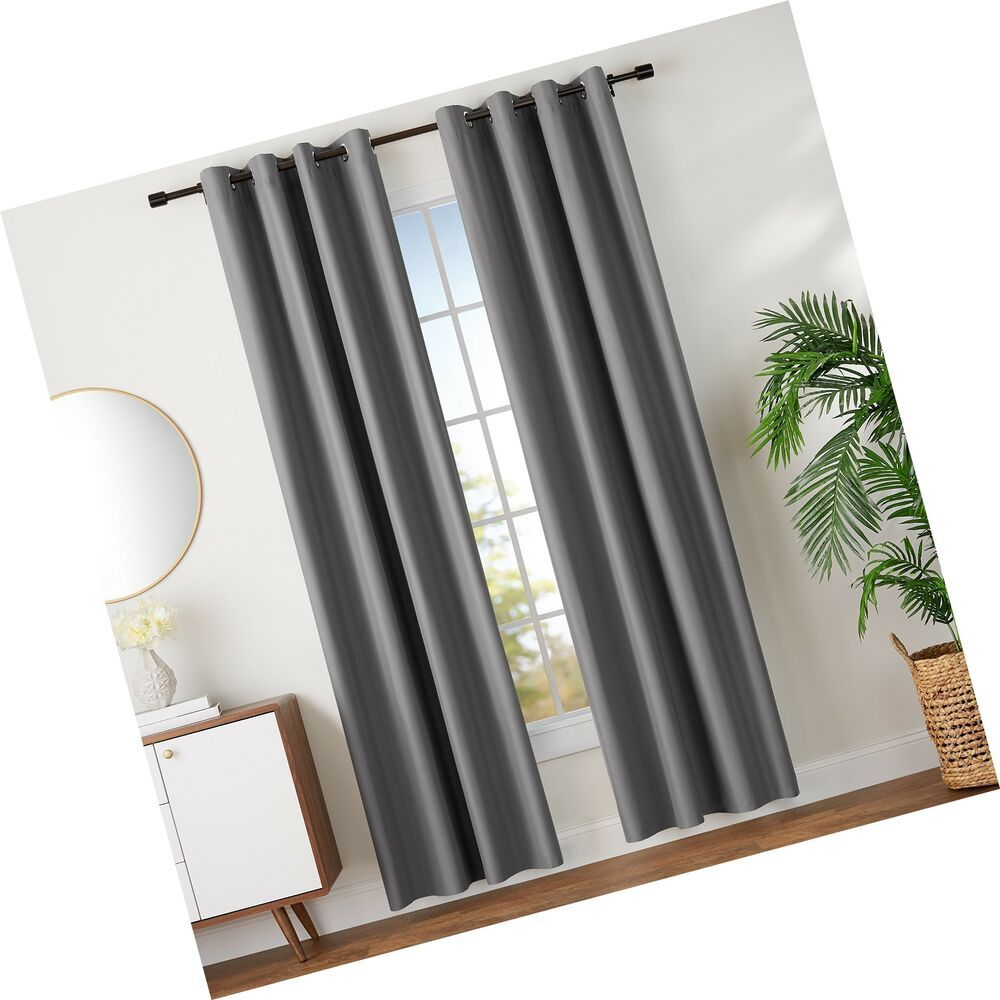 Amazonbasics Room Darkening Blackout Curtain Set With Grommets