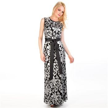 8f6f788b8ec7 Betsy & Adam Sequined Lace Gown | from Von Maur #VonMaur #Printed #Black  #Silver