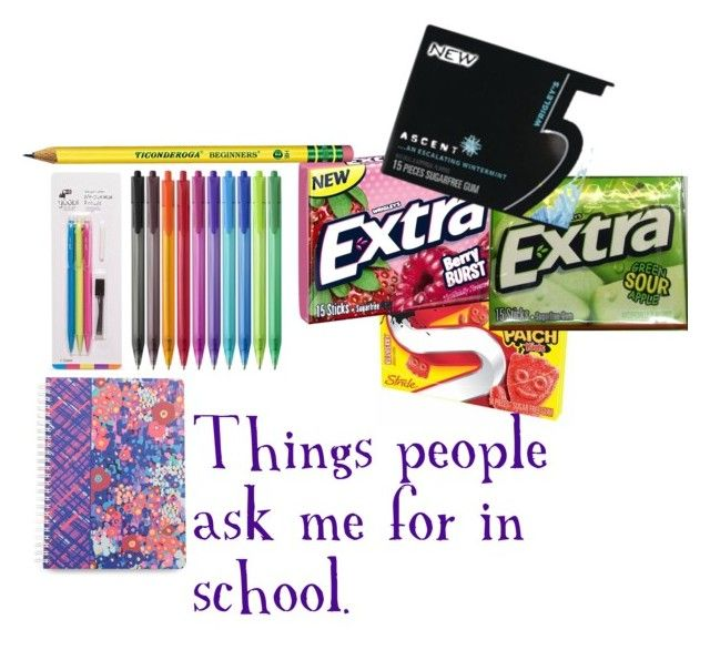 """things people ask me for in school"" by tryn11 ❤ liked on Polyvore featuring art"