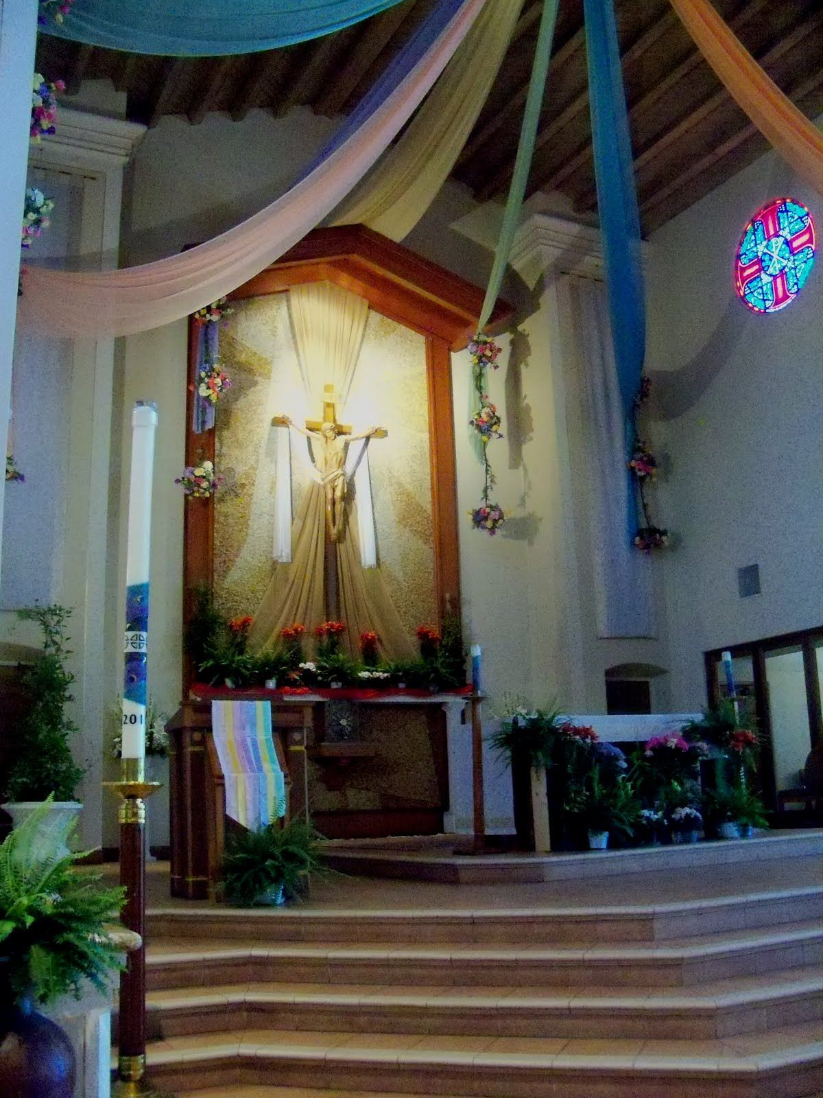 Easter Decorating Ideas For Church of arc catholic church easter decorations church ideas pinterest