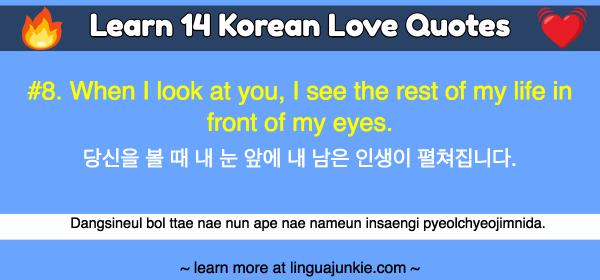 Learn 14 Korean Love Quotes Hangul English Translations