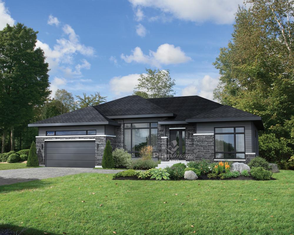 Plans de maison - Plain-pied - 9  House exterior, Prairie