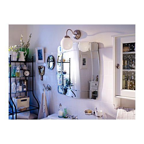 LILLHOLMEN Wall lamp Nickel-plated/white Walls, Lights and Bath