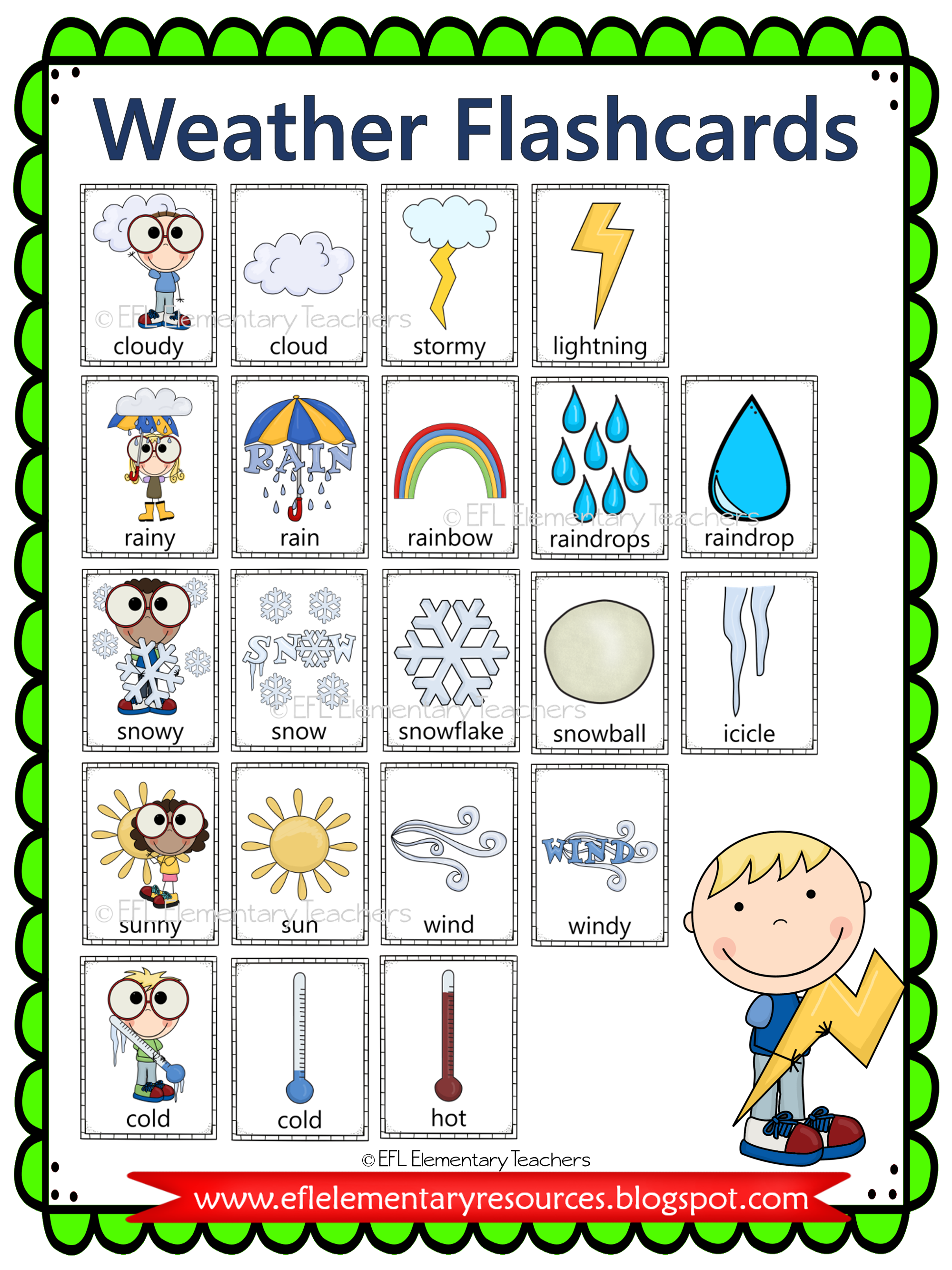Esl Weather Flashcards Weather Vocabulary Weather Books Learning English For Kids [ 2666 x 2000 Pixel ]