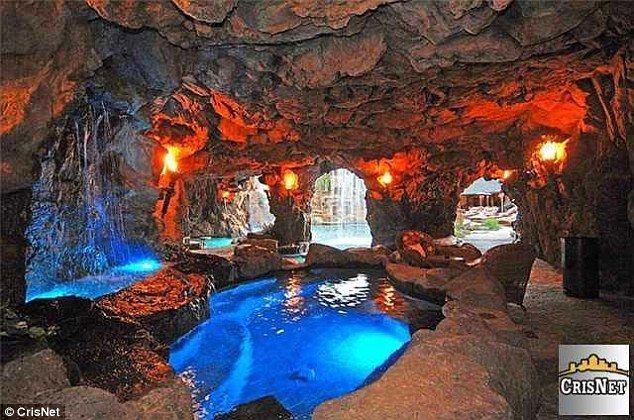 Prankster put drake 39 s lavish mansion up for sale for 20 - Playboy swimming pool ...