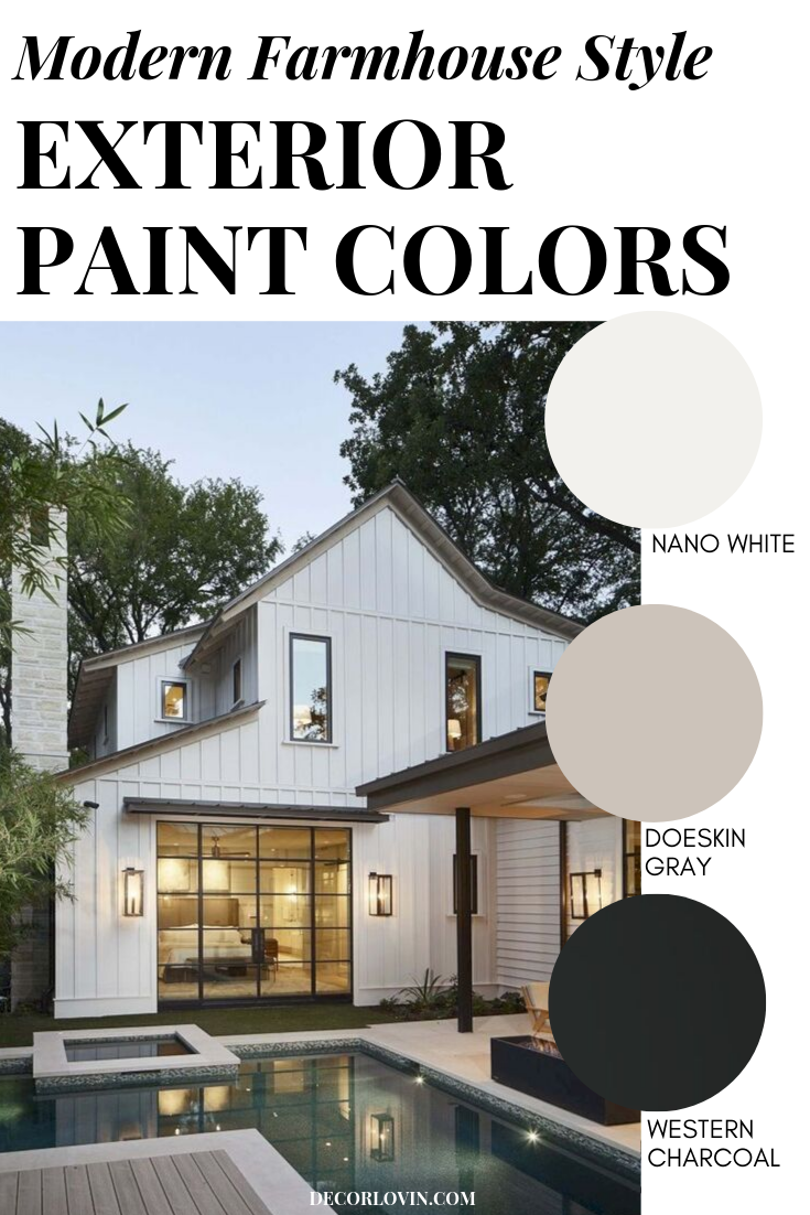 Modern Farmhouse Style Exterior Paint Colors Farmhouse Style Exterior Exterior Paint Combinations House Paint Exterior,How To Make A Bed In Minecraft Education