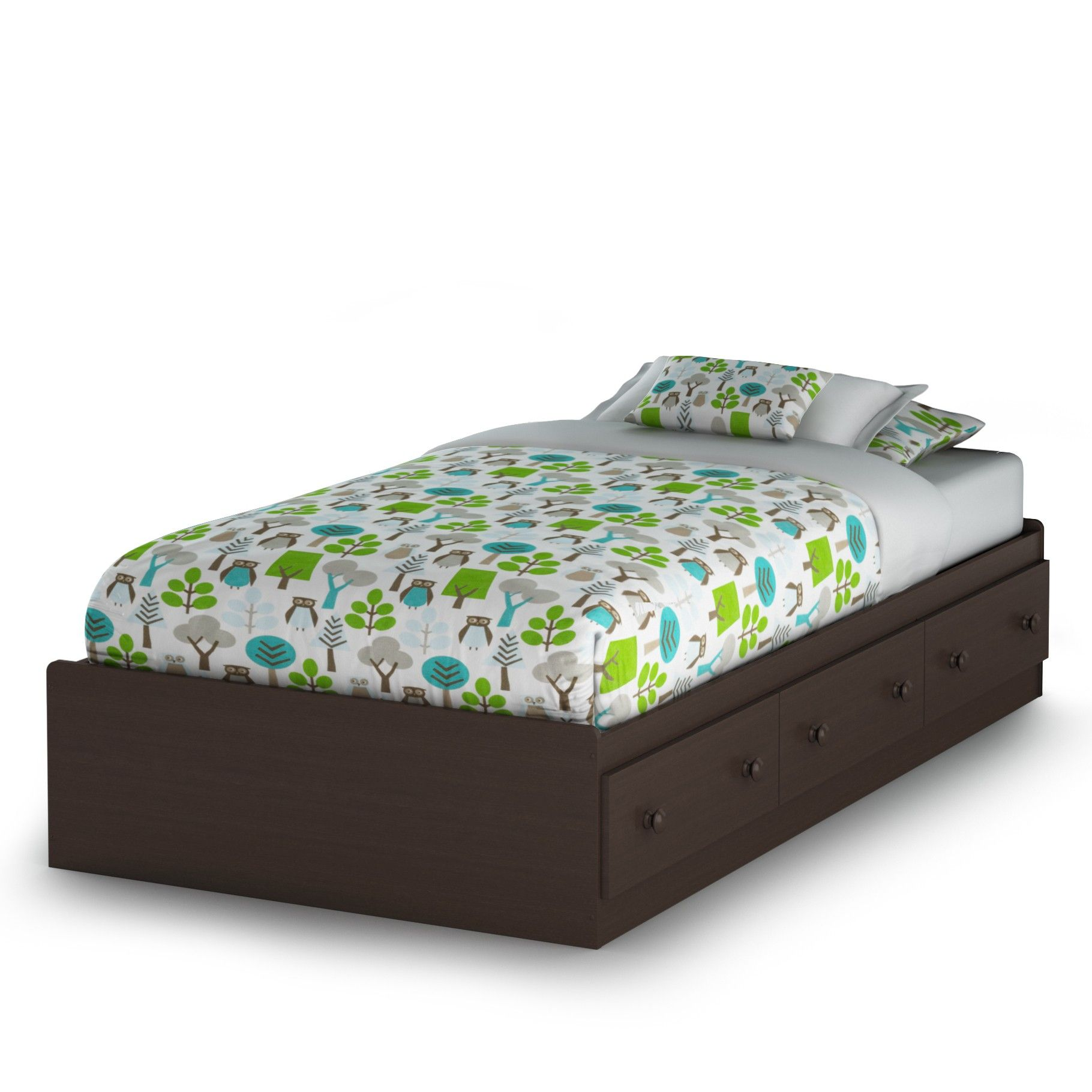 South Shore Summer Breeze Chocolate Mates Bed Box Size: Full 3219211   Kids  Beds