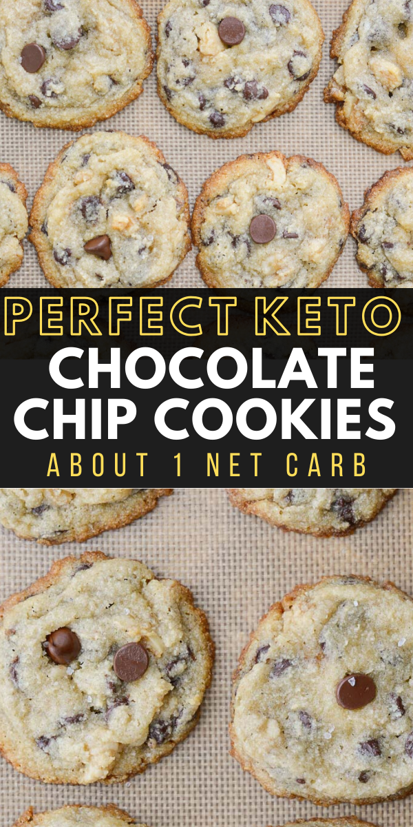 Keto Chocolate Chip Cookies (about 1 net carb) - Maebells