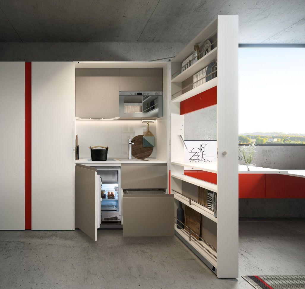 Cucina monoblocco Kitchen Box by Clei è una minicucina trasformabile ...
