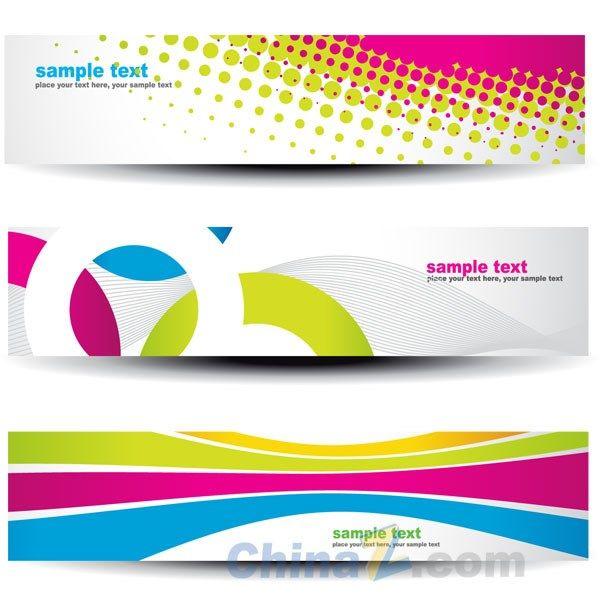 Bright Creative banners vector templates | Art Design | Pinterest ...