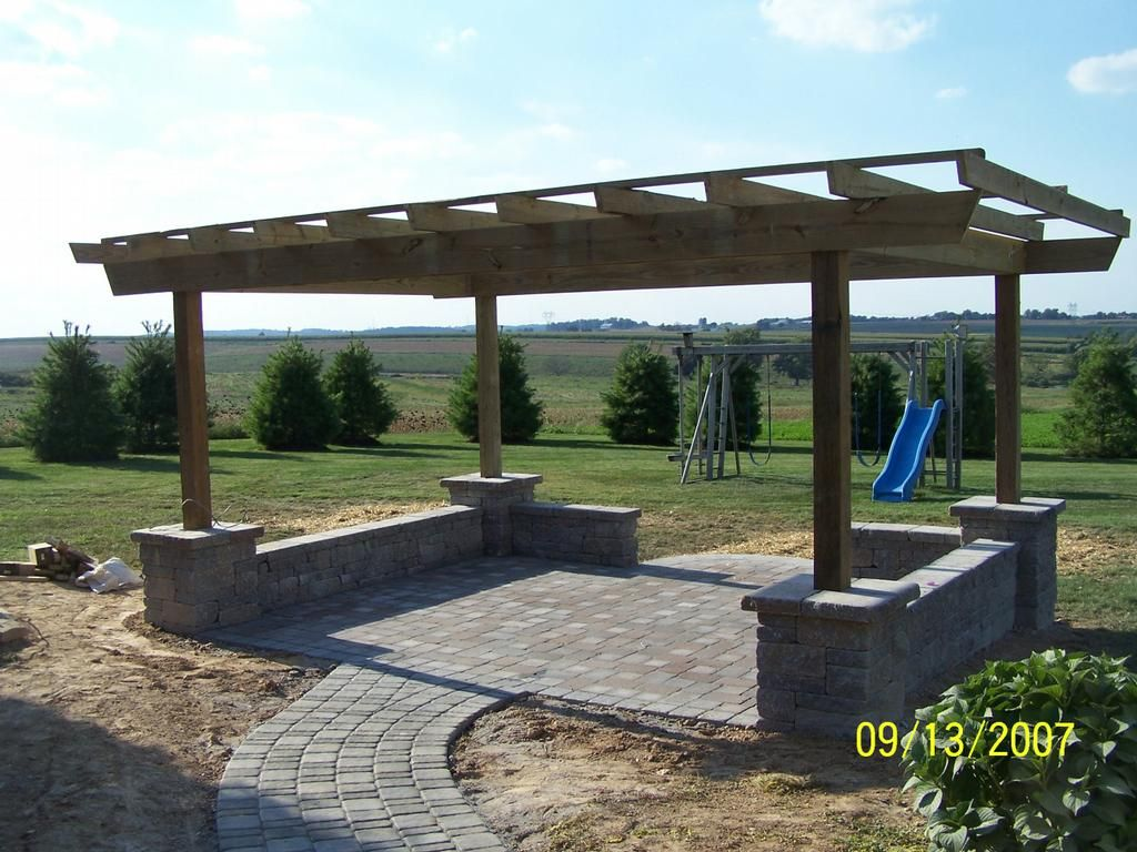 Paver Patio On A Slope Google Search Landscaping