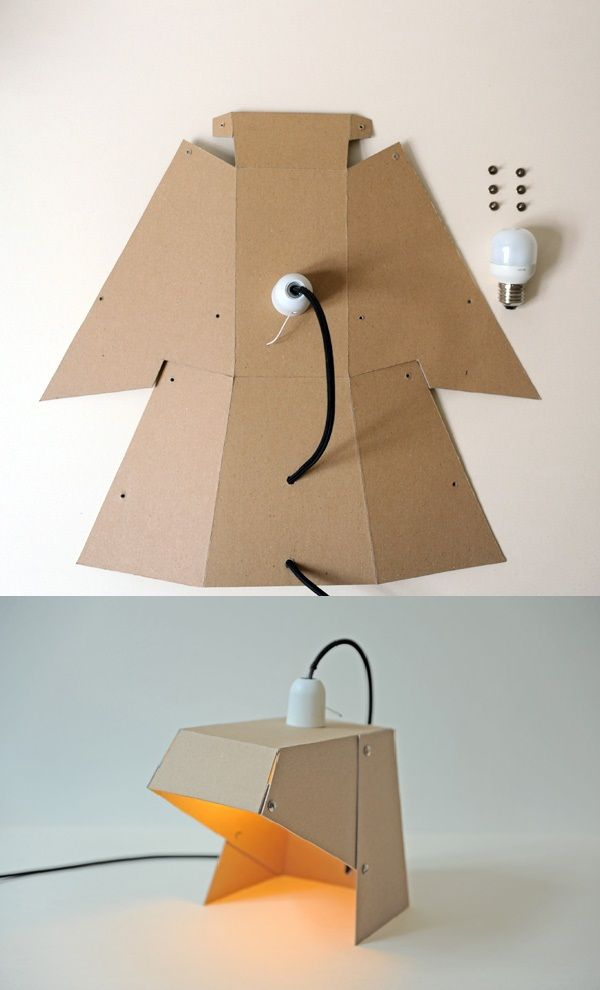 Exceptional Simple DIY Lamp. Cardboard ... Nice Look