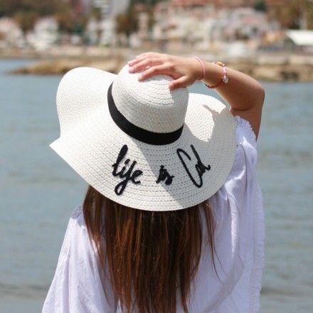 Sombrero playa frase  7053bc93ac6