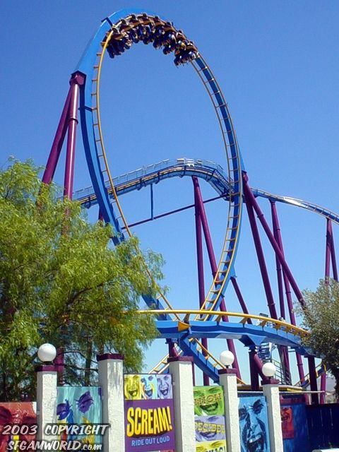 Scream Photo From Six Flags Magic Mountain Coasterbuzz Theme Parks Rides Amusement Park Rides Roller Coaster