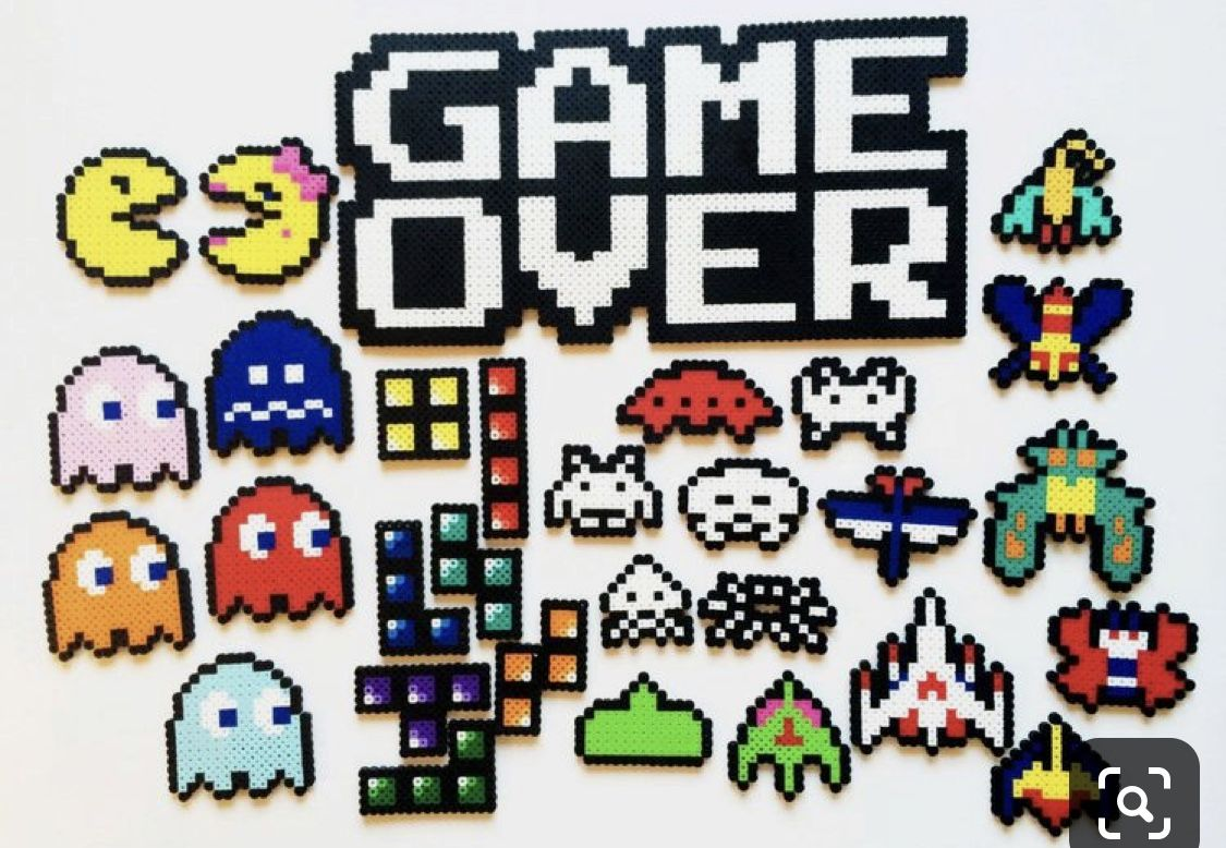 Perler Beads Video Game Icons In 2020 Hama Beads Patterns Perler Bead Art Perler Bead Templates