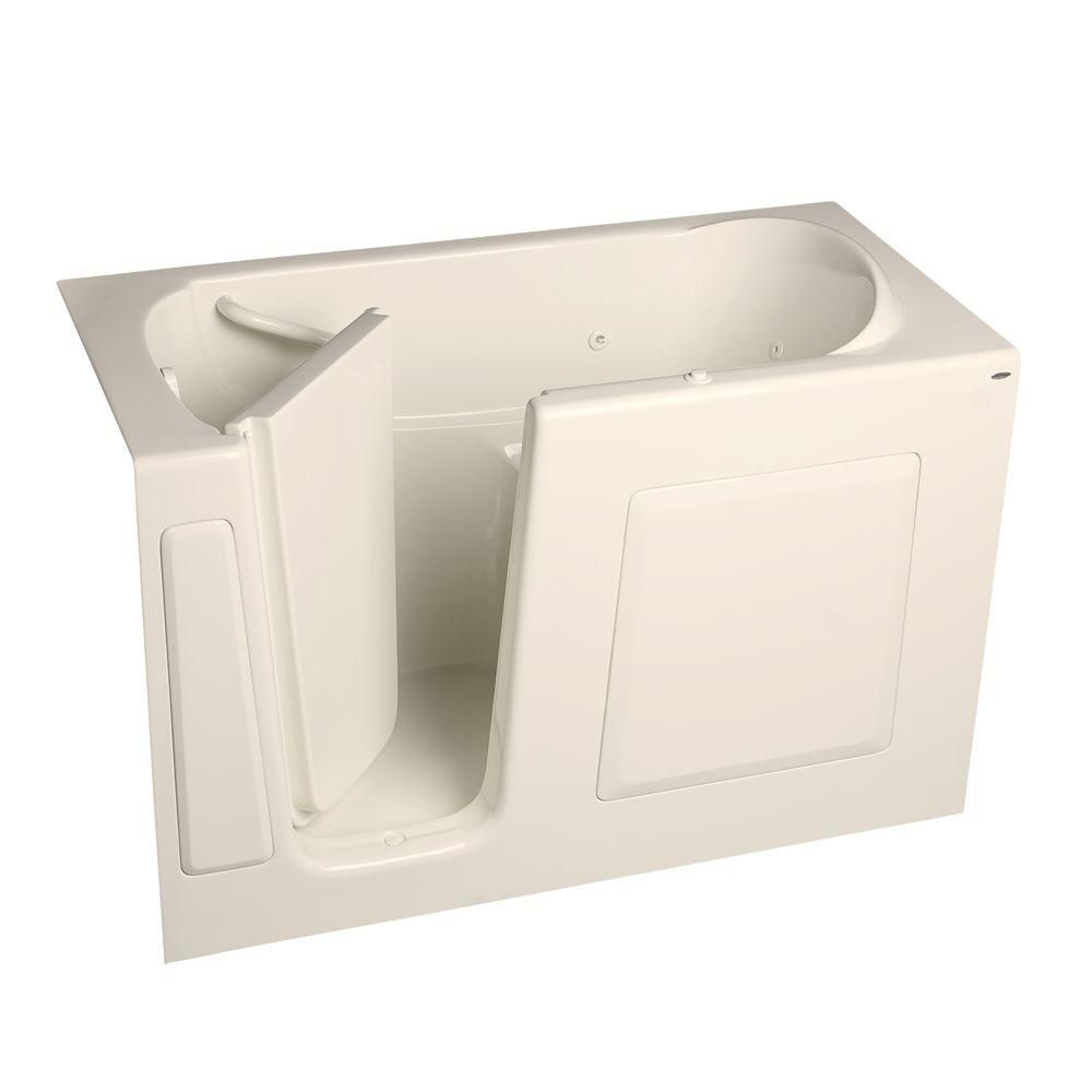 American Standard Gelcoat 5 ft. Walk-In Whirlpool Tub with Left Hand ...