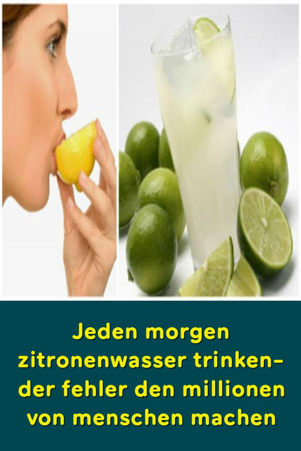 Zitronensaft zum Abnehmen auf nüchternen Magen
