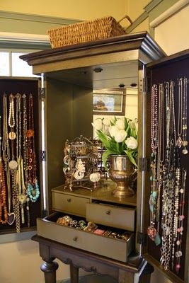 Large jewelry armoire just turn your reg armoire into jewely large jewelry armoire just turn your reg armoire into jewely storage make drawers all solutioingenieria Gallery