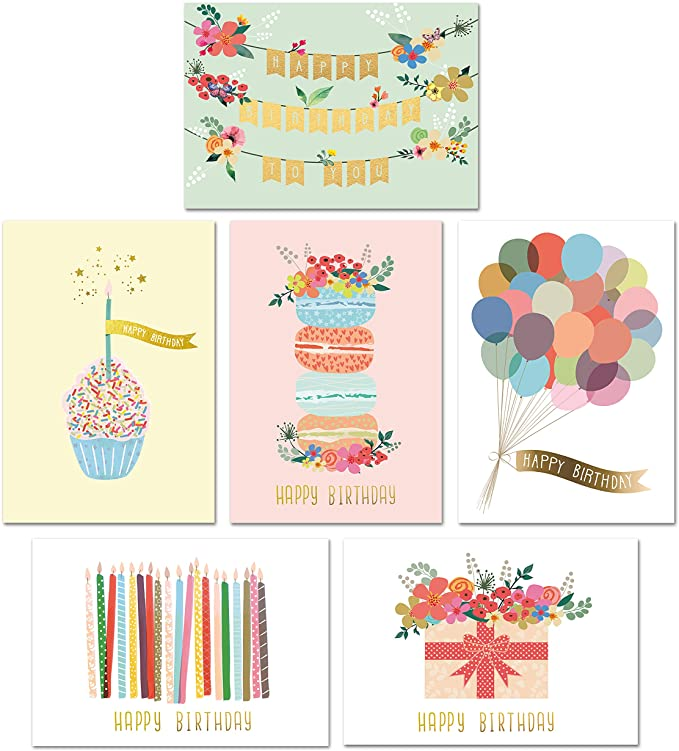 Amazon Com Gold Foil Bulk Birthday Cards Assortment 48pc Bulk Happy Birthday Card With E Blank Birthday Cards Birthday Cards For Women Happy Birthday Cards