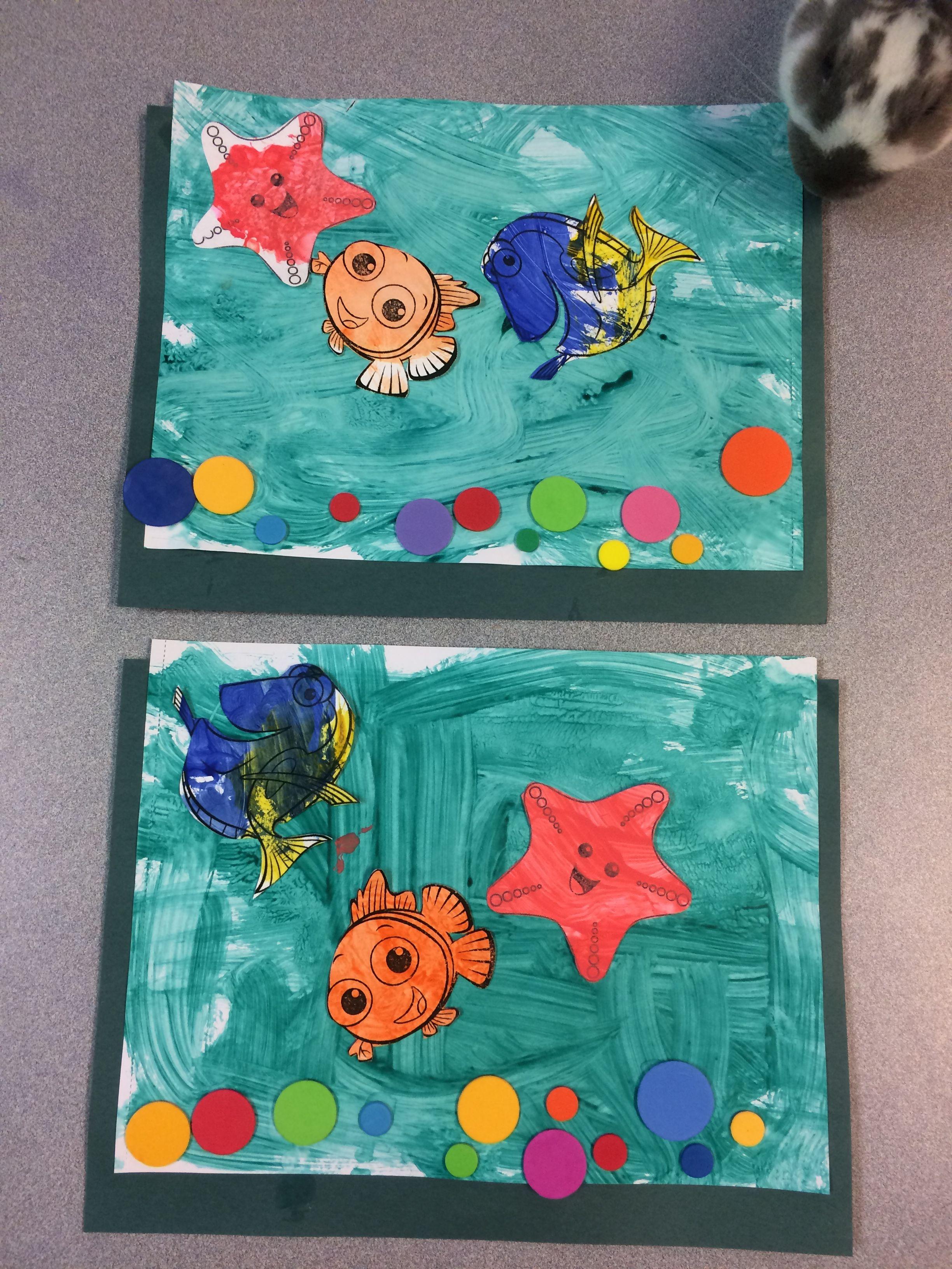 Finding Nemo Dory Fish Tank Aquarium Craft Art Project