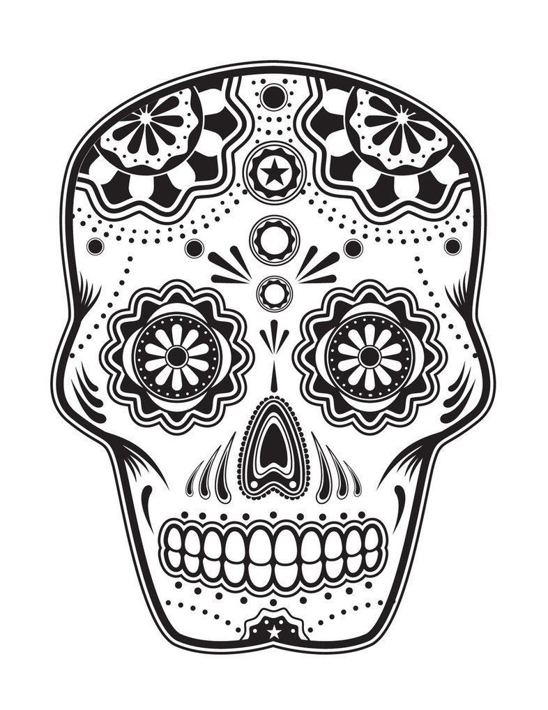 Day Of The Dead, Dia De Los Muertos, Sugar Skull, Coloring Pages Colouring  Adult Detailed Advanced Printable Kleuren Voor Volwassenen Coloriage Pour  Adulte ...