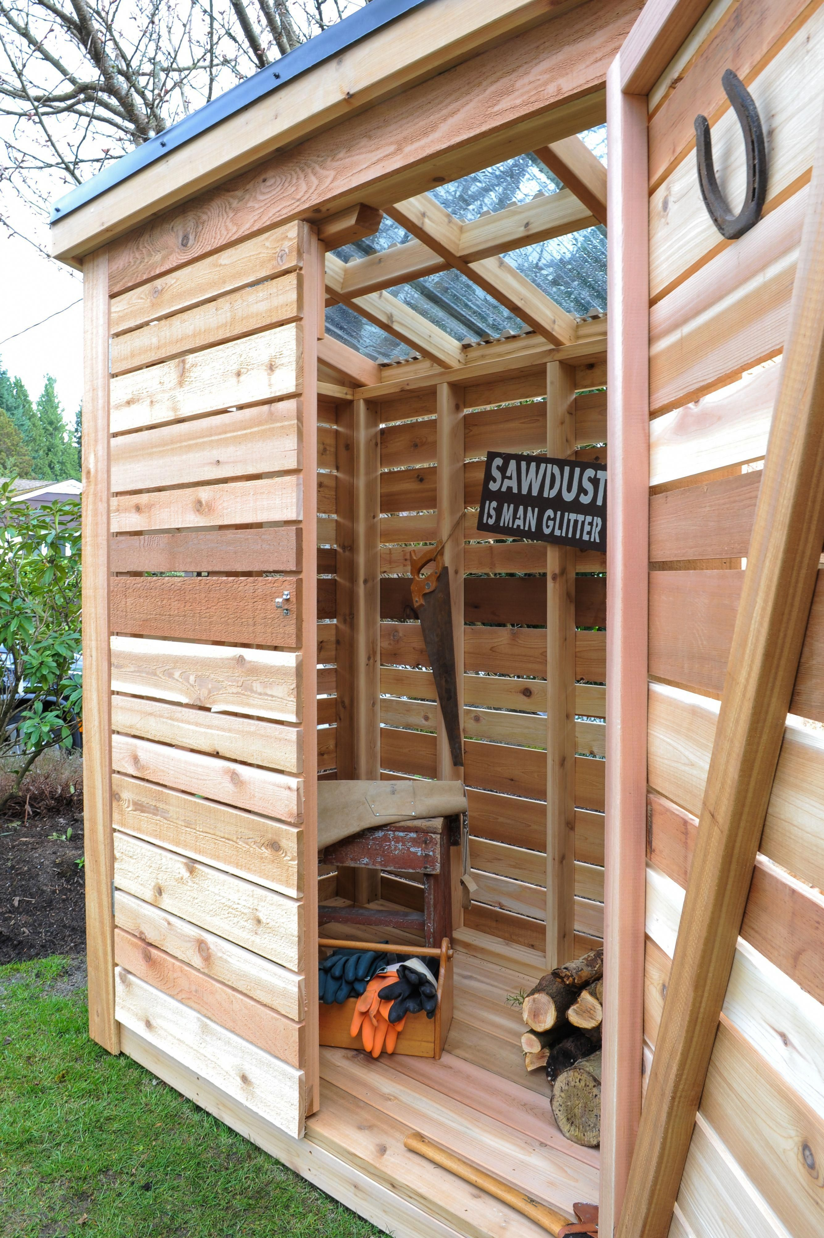 Diy Simple Cedar Garden Tool Shed Shedorganization Garden Tool