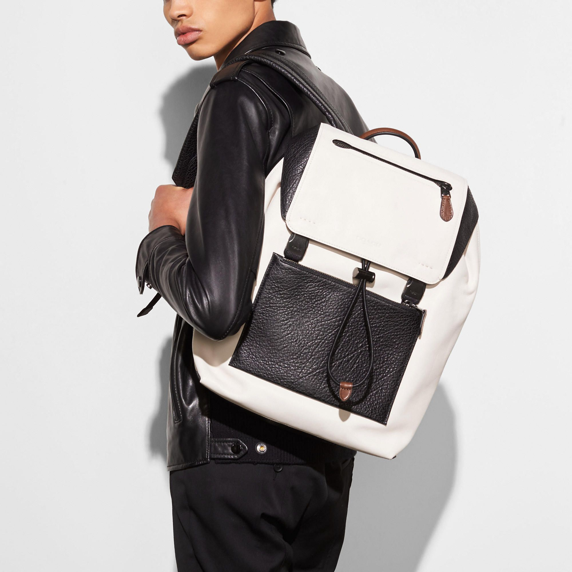 0ad13c52feee Buy Coach Mens Charles Backpack With Baseball Stitch Denim Calf Leather NWT  at online store. Coach Men