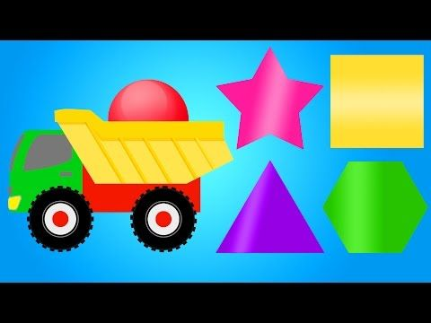 colors for children learning with color shapes colour truck for kids toddlers kindergarten videos - Colour For Children
