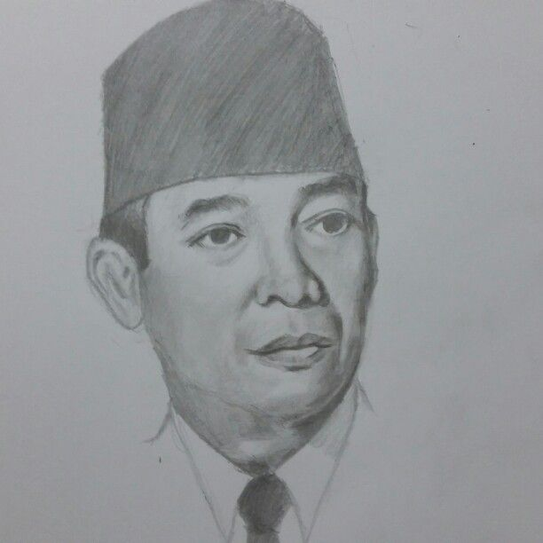 Sketch by me ..indonesian proclamator ir.soekarno.. | Grafis