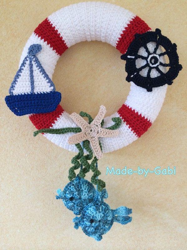 Türkranz Für Meeres Liebhaber Häkeln Deko Crochet Wreaths