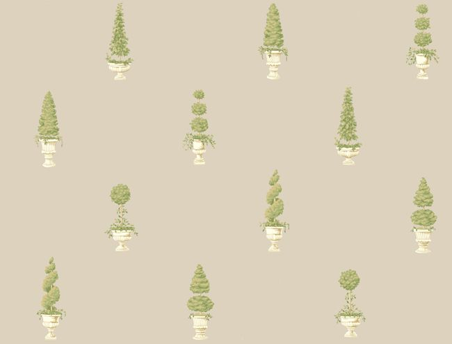 Topiary Wallpaper Discount Wallpaper Traditional