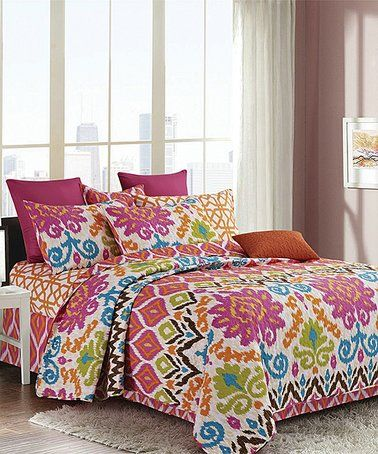 3 Piece King Size Quilt Set Blanket Bedspread w// 2 Matching Pillow shams
