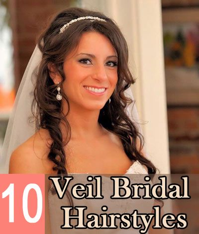 Veil Bridal Hairstyles :Get the basic idea on what kind of hairstyles you want on your wedding day.