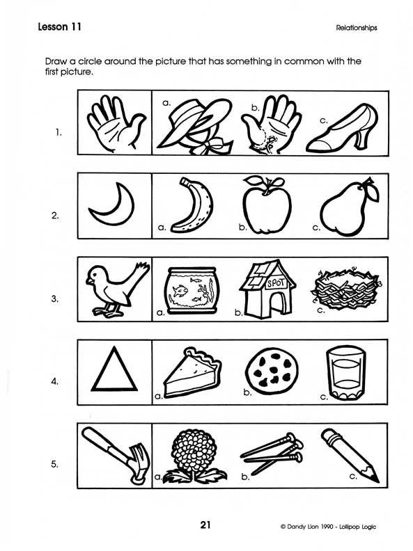 Critical thinking lessons for kindergarten